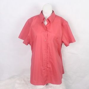 Foxcroft Women Plus Size S/S Wrinkle Free Fitted F